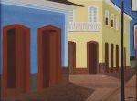 DJANIRA DA MOTTA E SILVA<br>(1914-1979)<br>Casario Colonial<br>Óleo s/ tela<br>Ass. e datado 64, cid<br>60 x 82 cm