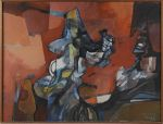 BURLE MARX, ROBERTO <br>(1909-1994) <br>AbstratoÓleo s/ tela <br>Ass. e datado 1990, cid <br>112,5 x 148,5 cm